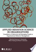 Applied Behavior Science in Organizations