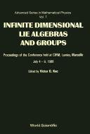 Infinite Dimensional Lie Algebras and Groups