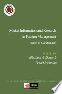 Market Information and Research in Fashion Management  Section 1  Manufacturers Book
