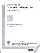 Answer Key for Grammar Dimensions Workbook 1-4