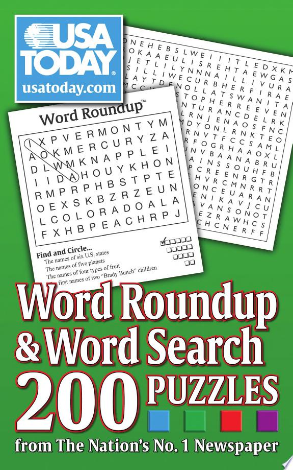USA Today Word Roundup & Word Searc