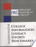 College Information Literacy Efforts Benchmarks