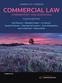 Cover of Commercial Law: Commentary and Materials