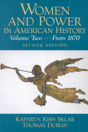 Women and Power in American History: From 1880