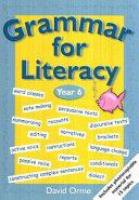 Grammar for Literacy. Year 6