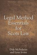 Pdf Legal Method Essentials for Scots Law Telecharger