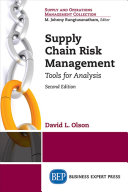 Supply Chain Risk Management  Second Edition