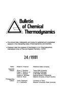 Bulletin Of Chemical Thermodynamics Book PDF