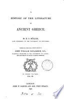 A History of the Literature of Ancient Greece