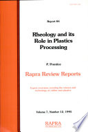 Rheology and Its Role in Plastics Processing Book