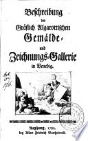 Beschreibung Der Gr Flich Algarottischen Gem Lde Und Zeichnungs Gallerie In Venedig