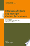 Information Systems Engineering in Complex Environments