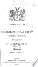 Central Criminal Court  Minutes of Evidence