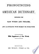 Pronouncing American Dictionary Book PDF