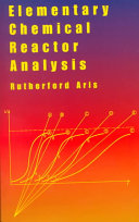 Pdf Elementary Chemical Reactor Analysis