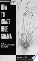 How to Graze Blue Grama on Southwestern Ranges