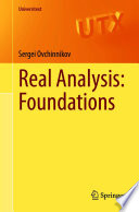 Real Analysis  Foundations Book