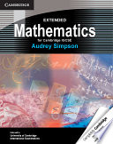 Cover of Extended Mathematics for Cambridge IGCSE