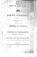 Minutes of Evidence and Minutes of Proceedings: [pt. 1-3.] September-December, 1893