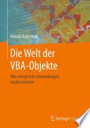 Die Welt der VBA-Objekte  : Was integrierte Anwendungen leisten können