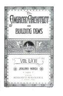 American Architect and Architecture Book PDF