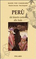 Guida Turistica Perù. Dal deserto costiero alle Ande Immagine Copertina