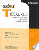 Asis T Thesaurus Of Information Science Technology And Librarianship Book PDF