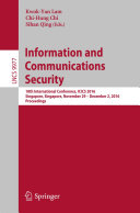 Information and Communications Security Pdf/ePub eBook