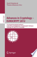 Advances in Cryptology     EUROCRYPT 2012