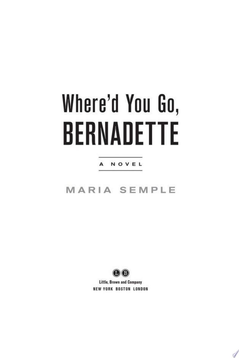 Where'd You Go, Bernadette image