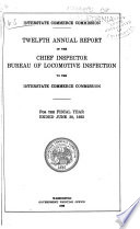 Annual Report Of The Director Of Locomotive Inspection To The Interstate Commerce Commission