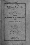 Mittheilungen seliger Geister im Jahre 1855, durch die Hand der Maria Kahlhammer, im Rapport der Mittheilungen des hl. Erzengels Raphael durch den Mund der Crescentia Wolf