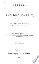 Letters on American Slavery