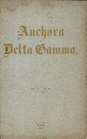 The Anchora Delta Gamma, une 1894