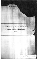 Statistical Report Of Fresh Canned Cured And Manufactured Fishery Products