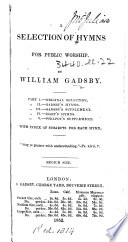 A Selection of Hymns for Public Worship, etc