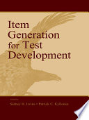 Item Generation for Test Development