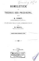 Homiletiek Of Theorie Der Prediking