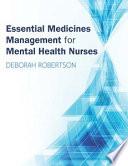 Ebook Essential Medicines Management For Mental Health Nurses