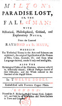 Pdf Milton's Paradise Lost, Or, The Fall of Man: with Historical, Philosophical, Critical, and Explanatory Notes. ... Embellished with Fourteen Copper Plates