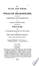 The Plays and Poems of William Shakspeare: Pericles. Titus Andronicus. Addenda. Indexes