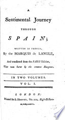 A sentimental journey through Spain, written in French ... and translated from the Paris edition, etc
