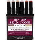 Studio Series Dual Tip Alcohol Marker Set - Skin Tones, 6 Markers