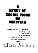 A Study of Social Work in Pakistan