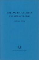 Gedichte Briefe Wacław Rolicz Lieder Stefan George