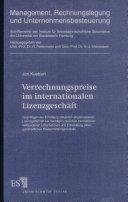 Verrechnungspreise im internationalen Lizenzgeschäft