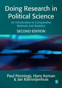 Doing Research in Political Science Pdf/ePub eBook