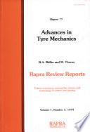 Advances In Tyre Mechanics