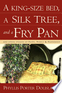 A King Size Bed  a Silk Tree  and a Fry Pan