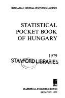Statistical Pocket Book of Hungary